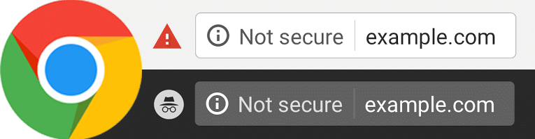 Chrome SSL 'Not Secure' Examples