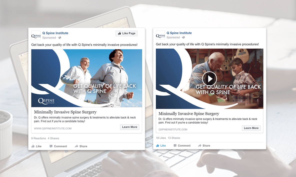 Facebook Ads for Q Spine Institute, New Jersey Spine Doctors