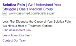 Spine Center PPC Marketing Ad