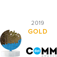 Gold DotComm Award Winner 2019