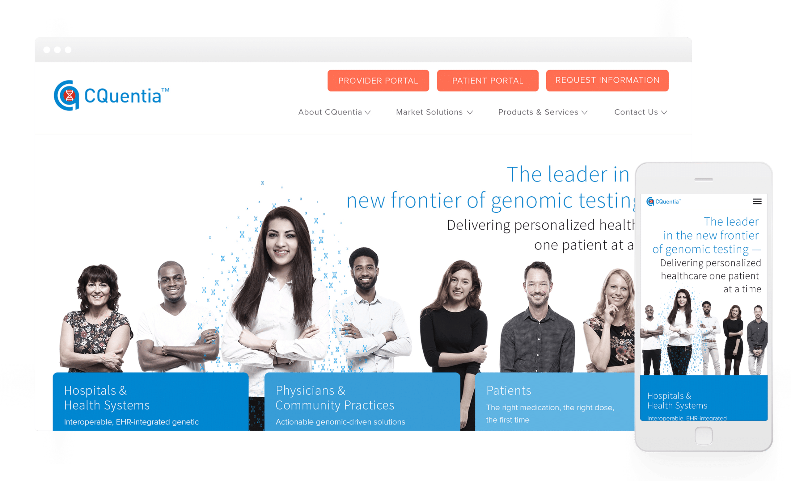 Website Design and Development for CQuentia Genomics