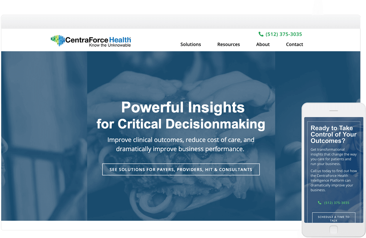 Healthcare Data and Analytics Technology Website