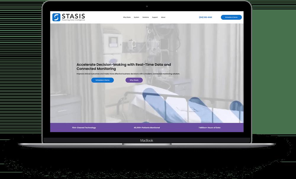 Stasis Laptop Homepage Mock